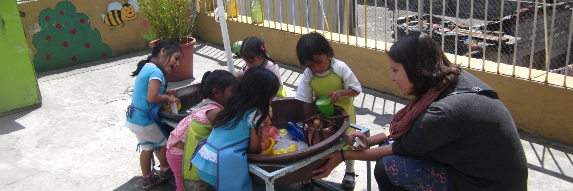 Interact with children in kid's homes
