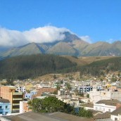 Panoramic view over Otavalo