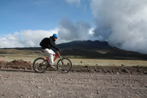 Mountain biking Cotopaxi
